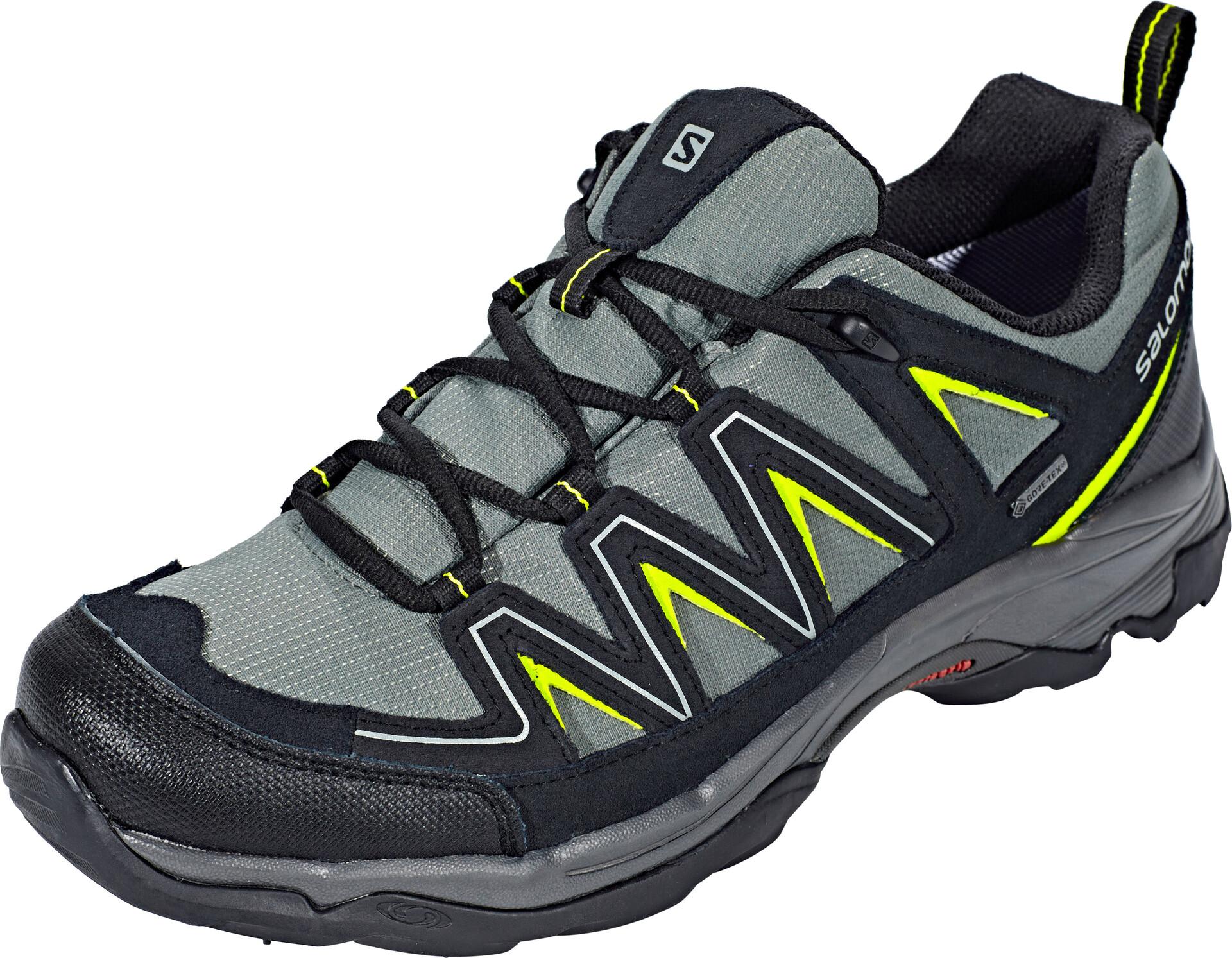 Salomon Arcalo GTX Chaussures de randonnée Homme, beetleblacklime punch